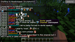 minecraft mod Chat Emotes (formerly EiraMoticons)
