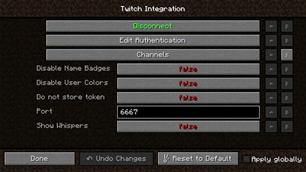 Twitch Chat Integration